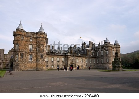 Royal palace of Holyroodhouse, Edinburgh, Scotland - stock photo