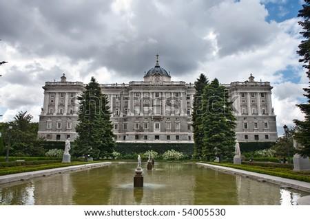Royal Palace of Madrid - stock photo