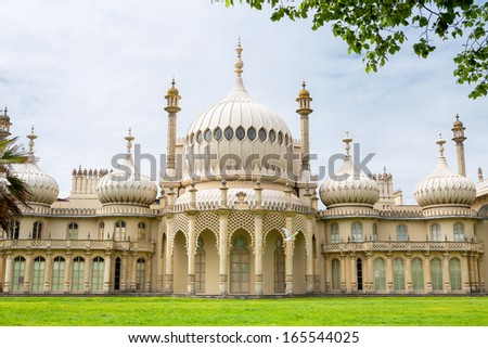 Royal Pavilion in Brighton. East Sussex, England  - stock photo
