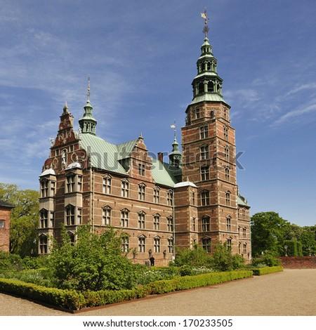 Royal Rosenborg Palace in Copenhagen. Denmark - stock photo