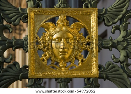 Royal shield on the gate of Royal Palace Turin, Italy,