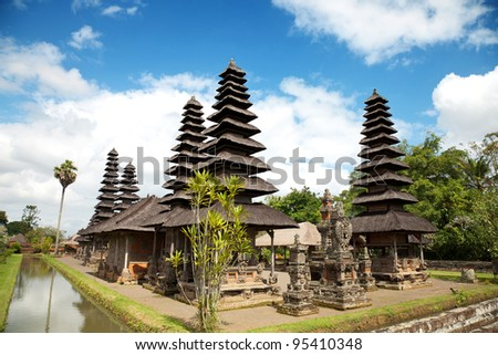 Royal Taman Ayun temple in Bali, Indonesia - stock photo
