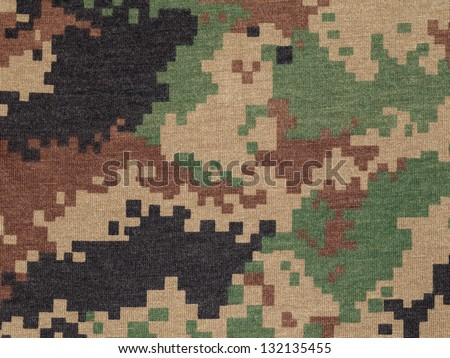 Royal thai marine  digital woodland camouflage fabric texture background - stock photo