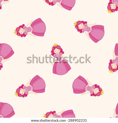 Royal theme princess , cartoon seamless pattern background - stock photo