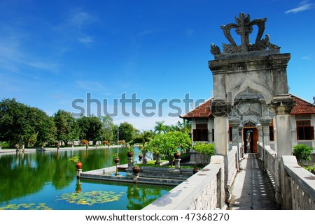 Royal Water Palace, Bali, indonesia - stock photo