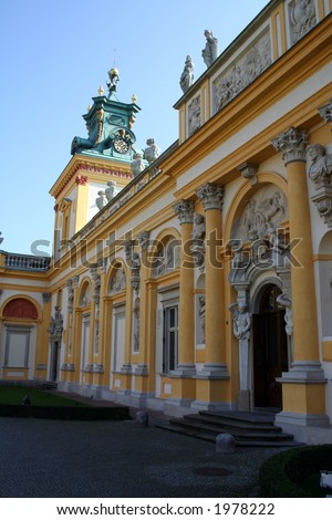Royal Wilanow Palace in Warsaw - residence of King Jan III Sobieski
