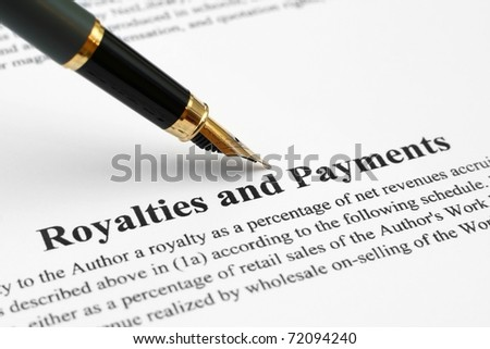 Royalties and payments - stock photo