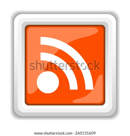 Rss sign icon. Internet button on white background.
