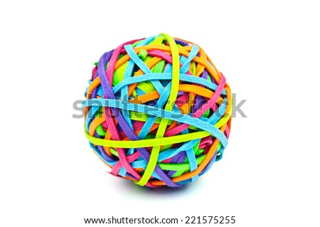 rubber ball - stock photo
