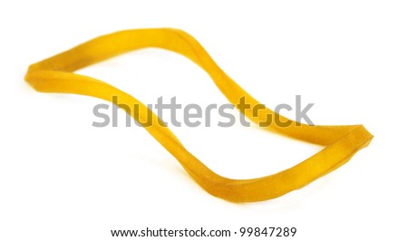 Rubber band over white background - stock photo