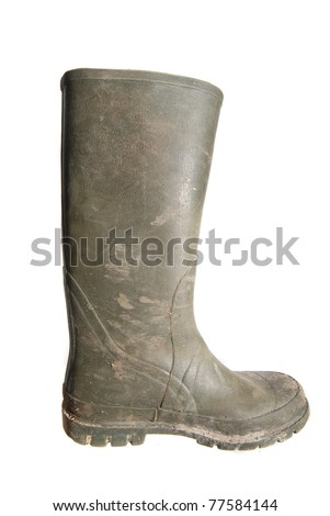 rubber boot - stock photo