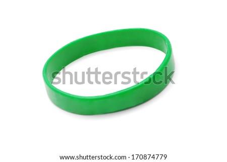 rubber bracelet - stock photo