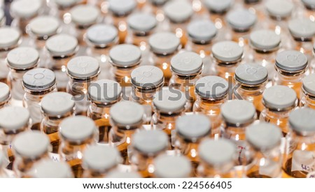 Rubber caps on test-tubes.  - stock photo