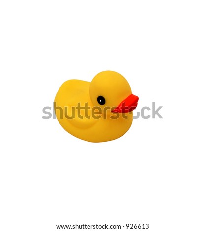 Rubber Ducky on pure white background