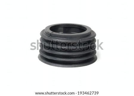 Rubber gasket isolated on white background