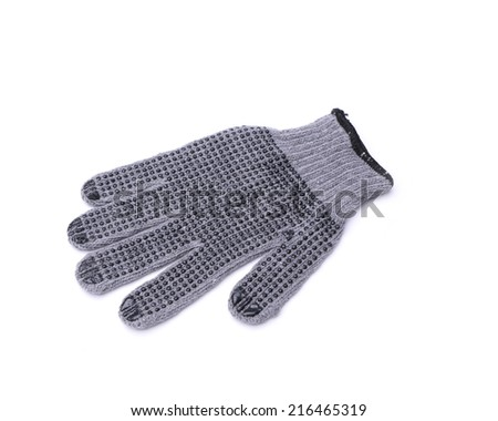 rubber glove isolated on a white background.