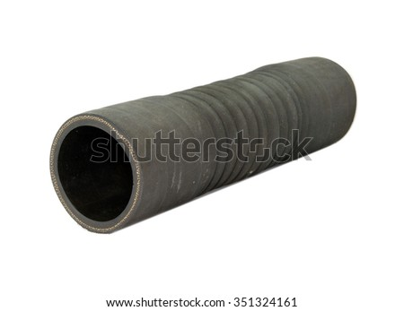 Rubber hose isolated on white background