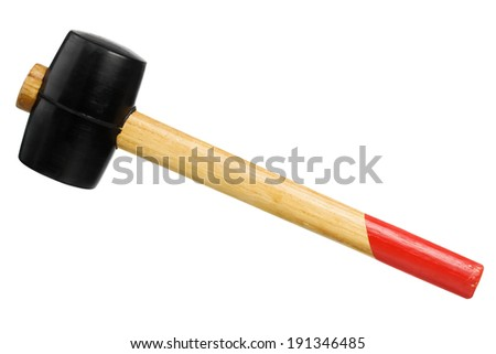 Rubber mallet isolated on a white background