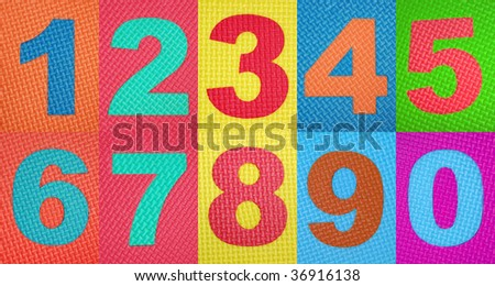 Rubber numbers - stock photo