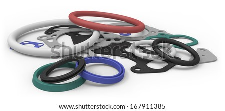 Rubber sealing - stock photo