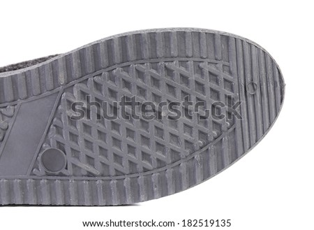 Rubber shoe sole. Isolated on a white background. - stock photo