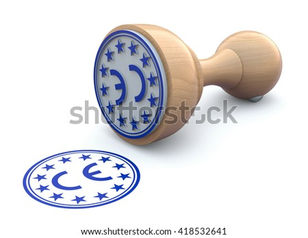 Rubber stamp-CE marking - 3d illustration
