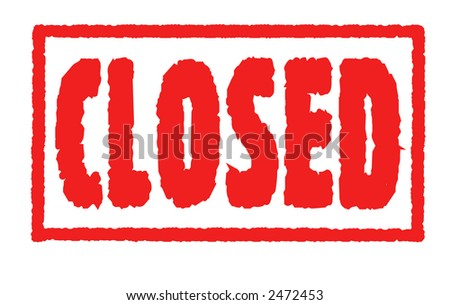 Rubber Stamp - Closed - stock photo