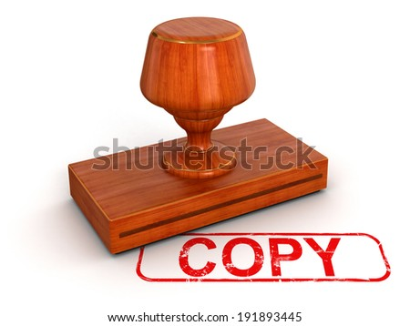 Rubber Stamp copy  - stock photo