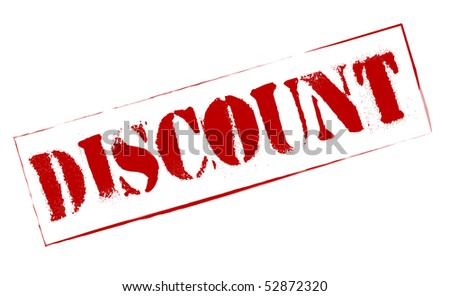 Rubber Stamp Discount - stock photo