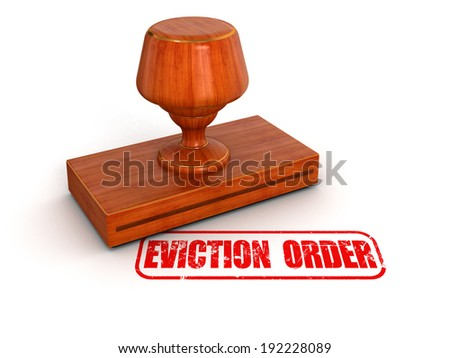 Rubber Stamp eviction order   - stock photo