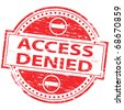 "Rubber stamp illustration showing ""ACCESS DENIED"" text - stock photo"