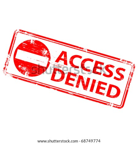 """Rubber stamp illustration showing """"ACCESS DENIED"""" text - stock photo"""