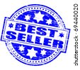 """Rubber stamp illustration showing """"BEST SELLER"""" text - stock photo"""