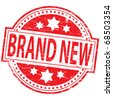 "Rubber stamp illustration showing ""BRAND NEW"" text - stock photo"