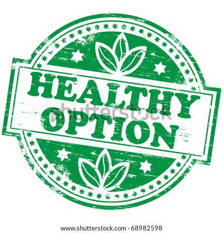 "Rubber stamp illustration showing ""HEALTHY OPTION"" text - stock photo"