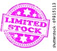 "Rubber stamp illustration showing ""LIMITED STOCK"" text - stock photo"