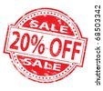 "Rubber stamp illustration showing ""20% Off"" text - stock photo"