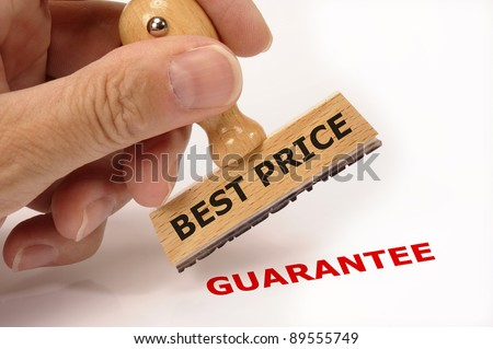 rubber stamp marked with BEST PRICE
