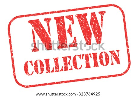 """Rubber stamp """"New Collection"""" on white - stock photo"""