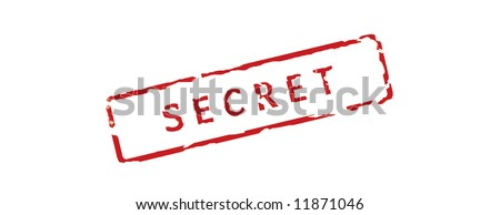 Rubber stamp - secret over white background - stock photo