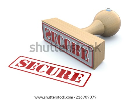 Rubber stamp-SECURE - stock photo