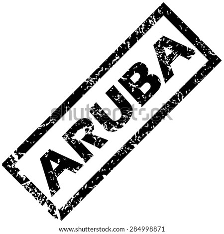 Rubber stamp with name ARUBA, isolated on white - stock photo