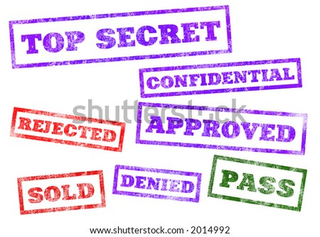 Rubber Stamps - stock photo