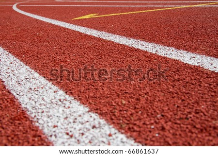 Rubber surface of a stadion - stock photo