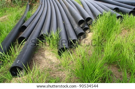 rubber tube - stock photo