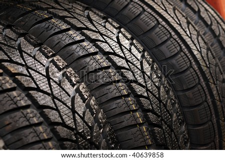Rubber tyre - stock photo