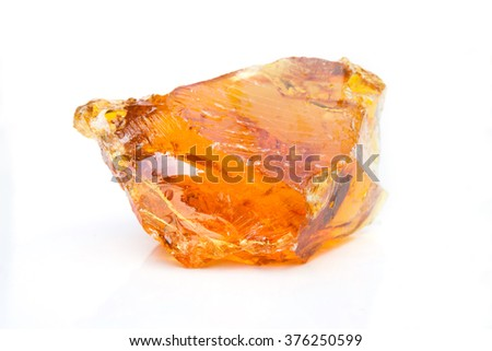 Rubber wood resin obtained from trees. - stock photo