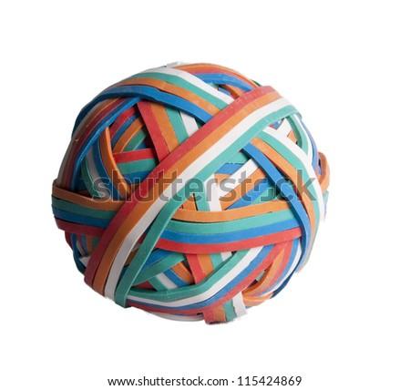 Rubberband ball - stock photo