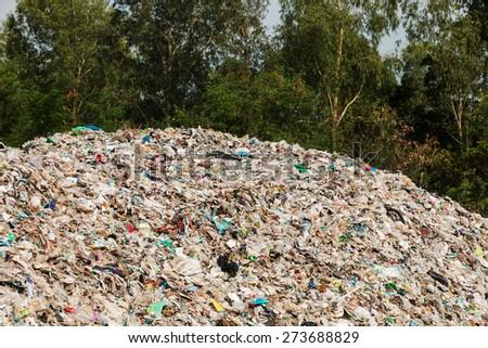 Rubbish dump - stock photo