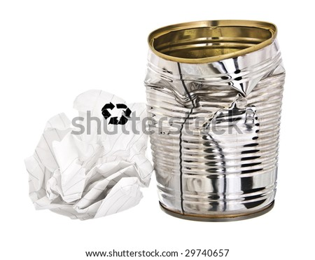 Rubbish for re-cycling - stock photo